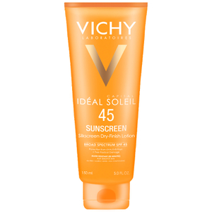 Vichy Idéal Capital Soleil SPF 45 Dry-Finish Body and Face Sunscreen with Antioxidants and Vitamin E, 5 Fl. Oz.