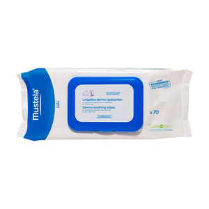 Mustela Dermo-Soothing Delicately Fragranced Diaper Wipes Pack of 70