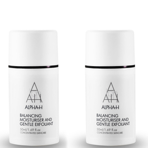 2x Alpha-H Balancing Moisturiser and Gentle Exfoliant 50ml