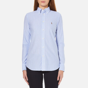 Polo Ralph Lauren Women's Heidi Stripe Shirt - Bermuda Blue/White