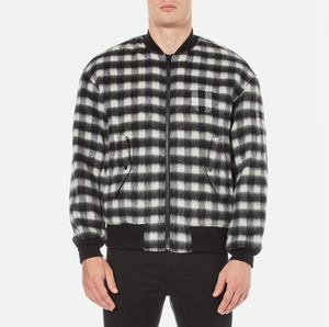 Alexander Wang Men's Slouchy Bomber Jacket - Black/White