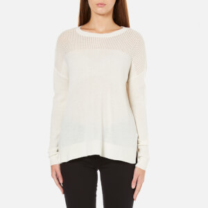 MICHAEL MICHAEL KORS Women's Mesh Yolk Sweater - Cream