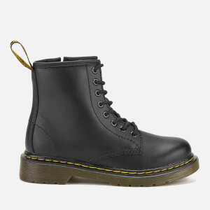 Dr. Martens Kids' Delaney Leather Lace Boots - Black