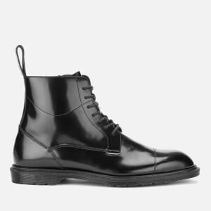 Dr. Martens Men's Henley Winchester Polished Smooth 7-Eye Zip Boots - Black