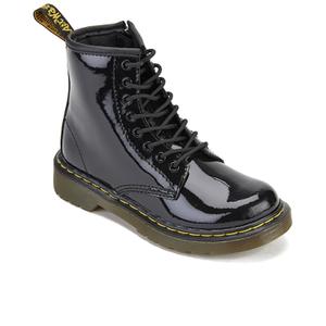 Dr. Martens Kids' 1460 J Patent Lamper Lace Up Boots - Black: Image 2