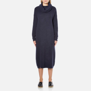 Selected Femme Women's Livana Knitted Roll Neck Dress - Dark Sapphire