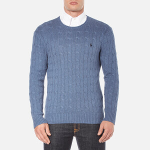 Polo Ralph Lauren Men's Long Sleeve Crew Neck Knitted Jumper - Night Blue Heather