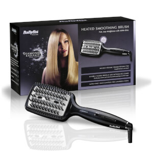 BaByliss Diamond Heated Smoothing Brush – Black