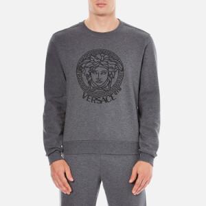 Versace Collection Men's Round Neck Sweatshirt - Grigio