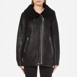 Gestuz Women's Lulle Shearling Jacket - Black