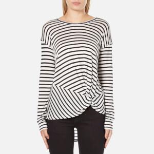 MINKPINK Women's Manhattan Long Sleeve Stripe Top - Black/White