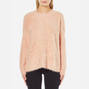 MINKPINK Women's Soft Serve Fluffy Rib Sweatshirt - Nude