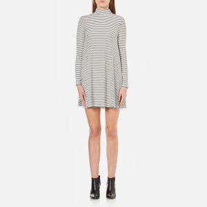 MINKPINK Women's Remember Me Striped Flared Dress - White/Black