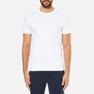 Michael Kors Men's Liquid Jersey Crew Neck Short Sleeve T-Shirt - White
