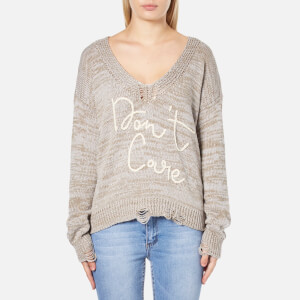 Wildfox Women's Don't Care Cambridge Jumper - Frappucino