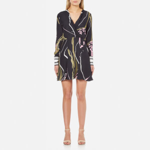 C/MEO COLLECTIVE Women's Been There Dress - Black Scarf Print