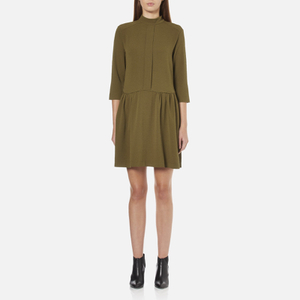 Ganni Women's Clark Dress - Dark Olive
