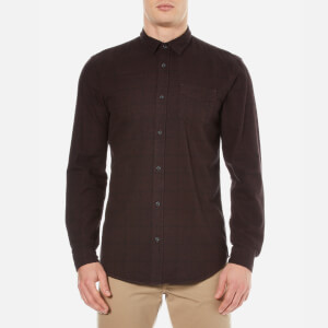 Selected Homme Men's Elliot Long Sleeve Shirt - Bitter Chocolate