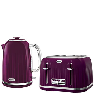 Breville Impressions Collection Kettle and Toaster Bundle - Damson