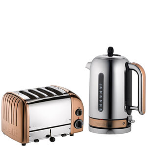 Dualit Classic Vario 4 Slot Toaster & Kettle Bundle - Copper