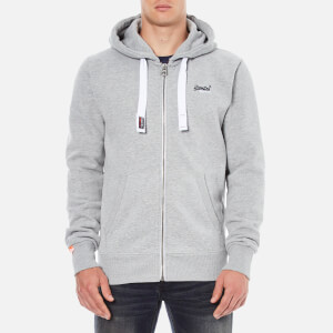 Superdry Men's Orange Label Zip Hoodie - Grey Marl