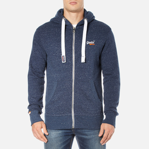 Superdry Men's Orange Label Zip Hoody - Nautical Navy Grit