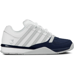 k swiss men 39 s baxter trainers navy white mens footwear. Black Bedroom Furniture Sets. Home Design Ideas
