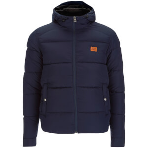 Jack & Jones Men's Originals Nice Hooded Puffer Jacket - Navy Blazer