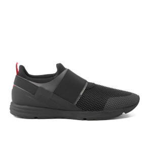 HUGO Men's Hybrid Runn Neoprene Elastic Band Trainers - Black