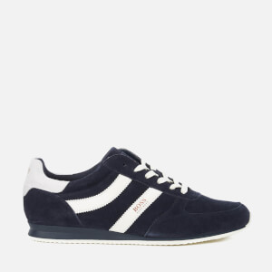 BOSS Orange Men's Orland Runn Suede Trainers - Dark Blue