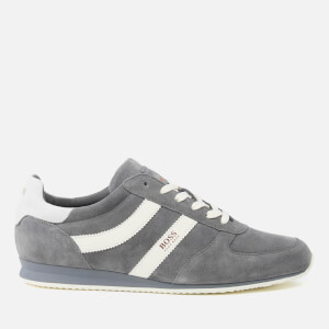 BOSS Orange Men's Orland Runn Suede Trainers - Medium Grey