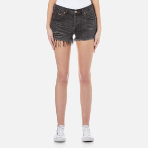 Levi's Women's 501 Slim Fit Shorts - Slashed Black
