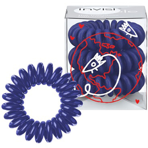 Invisibobble Hair Tie Universal Blue 3 Pack (Free Gift)