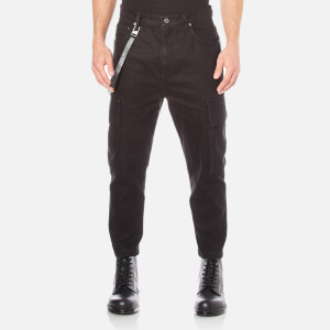 Helmut Lang Men's Cropped Cargo Jeans - Black