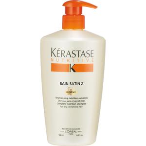 Kérastase Nutritive Bain Satin 2, Shampoing Cheveux Secs et Sensibilisés (500ml)