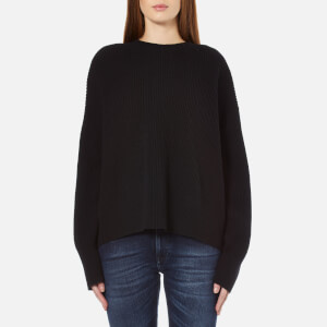 Helmut Lang Women's Open Back Cropped Jumper - Black
