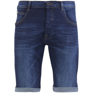 Crosshatch Men's Skylo Denim Shorts - Dark Wash