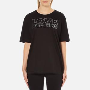 Love Moschino Women's Logo T-Shirt - Black