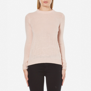 Love Moschino Women's Logo Imprint Jumper - Pink