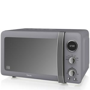 Swan SM22030GRN 800W Retro Digital Microwave - Grey