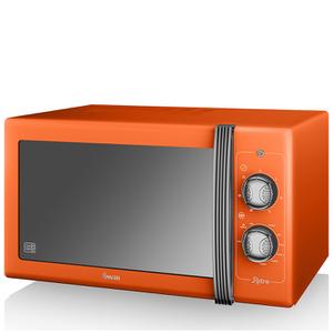Swan SM22070ON 25L Retro Manual Microwave - Orange