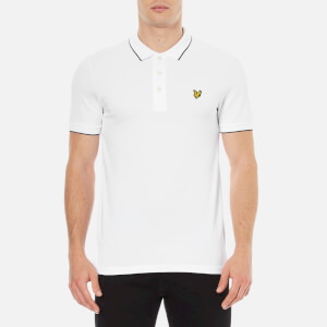 Lyle & Scott Men's Short Sleeve Jacquard Collar Polo Shirt - White