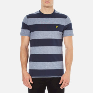 Lyle & Scott Men's Crew Neck Wide Stripe T-Shirt - Navy
