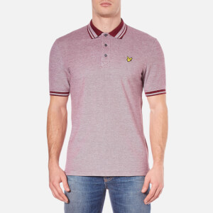 Lyle & Scott Men's Short Sleeve Oxford Polo Shirt - Claret Jug