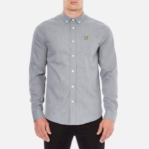 Lyle & Scott Men's Marl Flannel Long Sleeve Shirt - Mid Grey Marl
