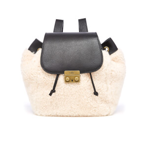 UGG Women's Vivienne Sheepskin Backpack - Black and Natural