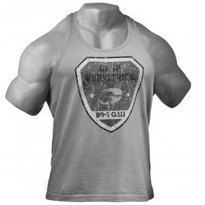 GASP Gym T-Back Vest - Metal