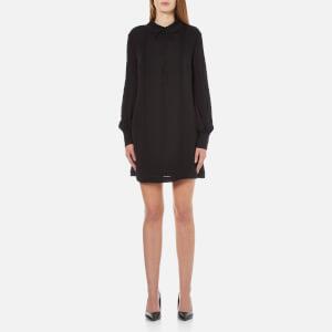 McQ Alexander McQueen Women's Pin Tuck Shirt Dress - Black
