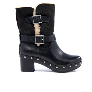 UGG Women's Brea Clog Suede Buckle Boots - Black