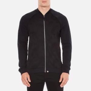Pretty Green Men's Midhurst Paisley Jacquard Track Jacket - Black